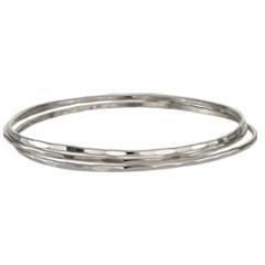China Sterling Silver Affection Bangles - Set of 3 on sale