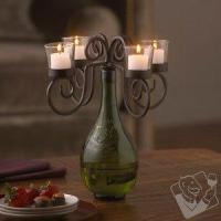 China Decor Vino Wine Bottle Candelabra on sale