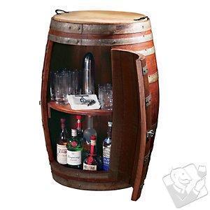China Bar Furniture Vintage Oak Barrel Wine Cabinet on sale