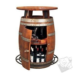 China Bar Furniture Vintage Oak Wine Barrel Bistro Table on sale