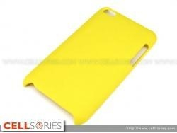 China Cases iPod Touch 4th Gen Hard Rubber Back Case Cover Yellow on sale
