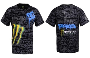 China Monster DC Shoes Subaru Rally Team SRT Team T-Shirt on sale