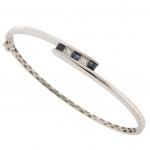 China Coloured gemstones Sapphire & Diamond set bangle. 18ct white gold. on sale