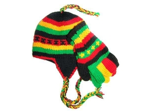 China Rasta Tibetan Hand Knitted Woolen Hat and Glove Set on sale