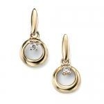 China Diamonds Crescent earrings in 9ct yellow gold with diamond on sale