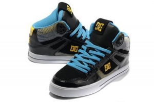 China DC Fighterle Mid Black/SkyBlue/Gold/White On Sale on sale