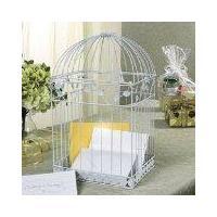 Photo Albums White Birdcage Wedding Gift Card Holder Wishing Well