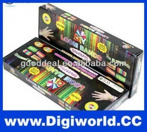 China Colorful DIY rainbow Silicone Looms bands kit on sale