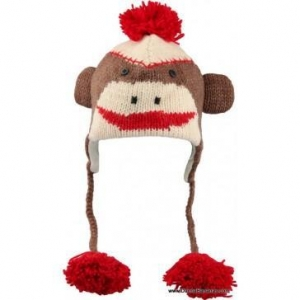 China Fun Gifts For Everyone Cute Sock Monkey Pilot Hats on sale