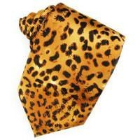 China Tuxedo Vests Jaguar Animal Print Necktie on sale