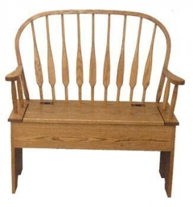 China Feather Back Storage Bench on sale