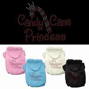 China Hoodies Candy Cane Princess Jeweled Pet Dog Hoodie on sale