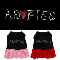 Costumes Adopted Rhinestone Pet Dog Dress