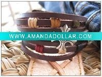 China leather charm bracelet on sale