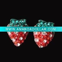 China 925 Sterling Silver Crystal Stud Earring DR800080E Accept by PayPal on sale