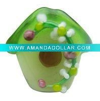 China house shaped lampwork glass bead RY002571 on sale
