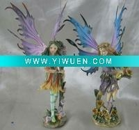 China Artificial Crafts(970) polyresin garden fairy with metal wing oem available on sale