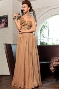 China Evening Dress Flowers Strap One Shoulder Prom Dress on sale