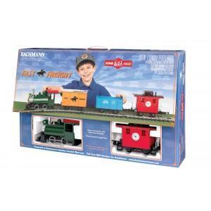 China Static Railway Models (2) Bachmann G Scale Train Shorty Set LI\'L Big Haulers Fast Freight on sale