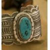 China Authentic Navajo 925 Silver and Kingman Turquoise Cuff - sku0016 for sale