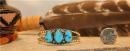 China Sterling Silver Kingman Turquoise BABY Navajo Bracelet - sku0042 on sale