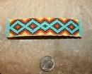 China Authentic Native American Hair Barrette BEADED Buckskin Leather 4 inches Long F sku576 on sale