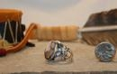 China Navajo Sterling Silver and Crazy Horse Men's Ring sku254 on sale