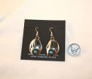 China Sterling Silver and Turquoise Navajo BEAR CLAW EarringsSKU206 on sale