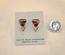 China Navajo Sterling Silver, Wild Horse and Opal Post Earrings SKU217 on sale