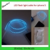 China LED Flash Light Cable for iPhone 5 Sync and Charging for sale