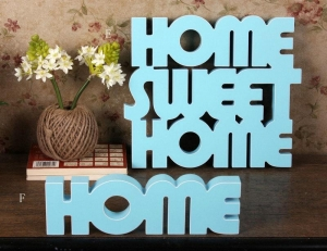 China Wooden Decorative Letters wood letters HOME SWEET HOME art sign on sale