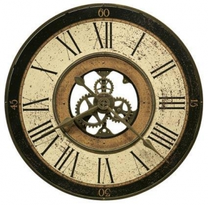 China Howard Miller Brass Works 625-542 Large Wall Clock on sale
