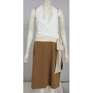 China Famous Name Halterneck Wrap Plunge Dress. Size 16. In Store 75 on sale
