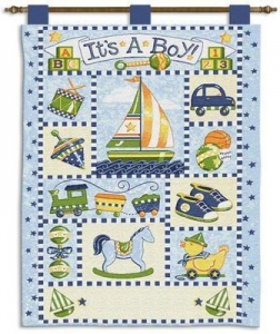 China Baby & Kids It'S A Boy Baby Wall Hanging \ 24 x 36 on sale
