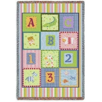 China Baby & Kids Tapestry Throw Blanket | ABC 123 Mini | 34 x 53 on sale