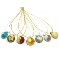 China MURANO GLASS CABOCHON BEAD NECKLACE (45 CM) MADE WITH A CABOCHON BEAD 22X10 MM on sale