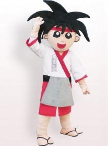 China Japanese Boy Plush Adult Mascot Costume on sale