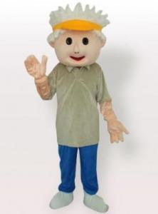 China Golf Boy Adult Mascot Costume on sale