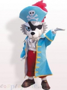 China Pirate Dog Plush Adult Mascot Costume on sale