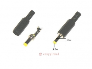China Global 4.8mm / 1.7mm Male Solder DC Power Barrel Tip Plug Jack Connector Adapter on sale