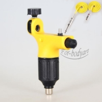 Top Quiet Motor Rotary Tattoo Machine Gun Plastic Shader Liner With Clip Cord