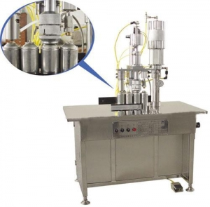 China QGBS-500 Series 3-in-1 semi-automatic aerosol filling machine on sale