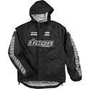 China Apparel Men's Icon PDX Waterproof Shell Motorcycle Rain Jacket Black on sale