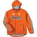 China Apparel Men's Icon PDX Waterproof Shell Motorcycle Rain Jacket Hi-Viz Orange on sale