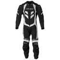 China Apparel Men's AGV Sport Astra 1-Pc Leather Motorcycle Suit Black/White on sale