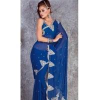 China Beguiling Indigo Saree DN9542 on sale