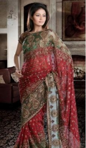 China Bridal Sarees Beguiling Bridal Saree DN1255 on sale