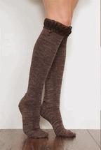 China Simply Noelle ladies tall boot socks knee highs black, brown, blue, green, purple, navy on sale