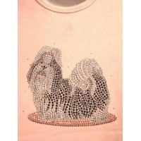 Christine Alexander plus size pink shirt crystal dog shih tzu or Lhasa apso size 3x only