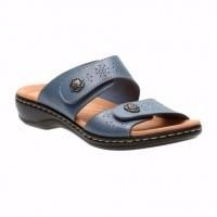 WOMEN SHOES Clarks Leisa Zeme Open toe Wedge Sandals Blue